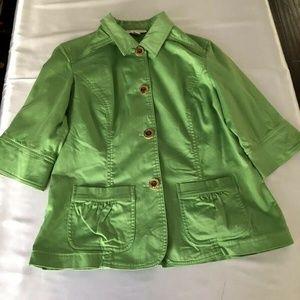 COLDWATER CREEK Women's Green Blazer Jacket